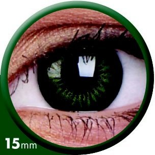 BigEyes Party Green (3-Mois) 15mm (2 lentilles)